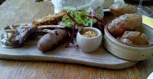 Platter of Roe Deer with crispy new potatoes