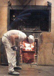 Wood burning oven at Princi