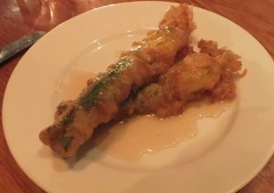 Courgette Flowers Opera Tavern Covent Garden