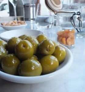 Olives, Almonds and sherry!