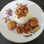 Rum and Raisin Panna Cotta with Nut Crunch