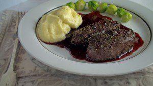 Venison Strip Loin with redcurrant sauce