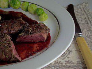 Rare Venison Steak