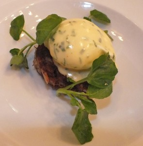 oxtail with poached egg bernaise odettes