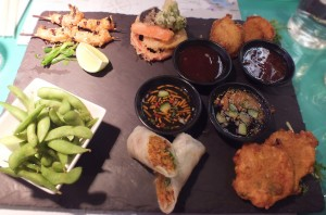 sharing platter at East Street