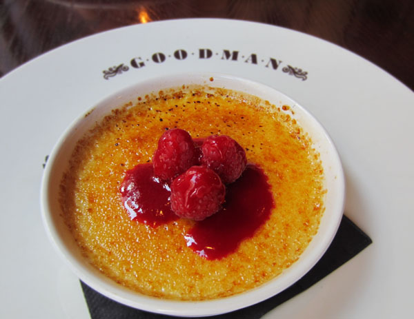 creme brulee, Goodman, London