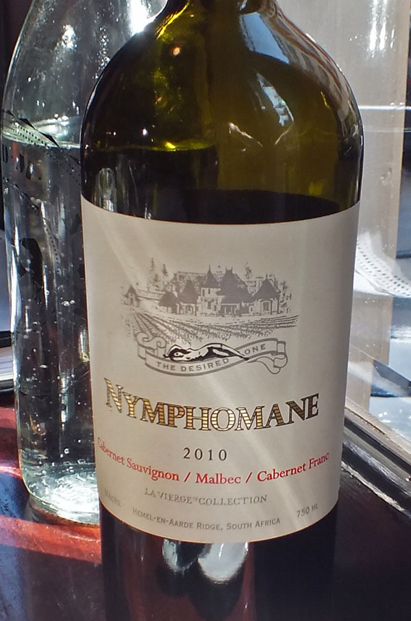 Nyphomane wine at Goodman, London