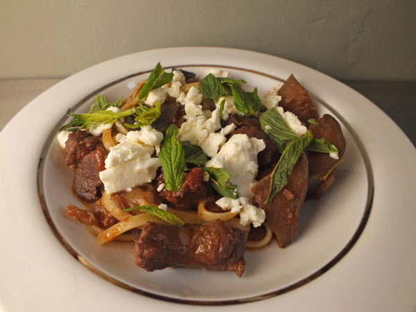 Greek Lamb with Aubergine, Feta and Mint