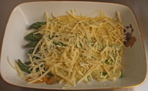 Pre-cooking Baked Asparagus Cheese