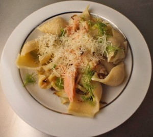 Smoked Salmon and Fennel Pasta