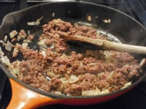 Venison Sausage Penne