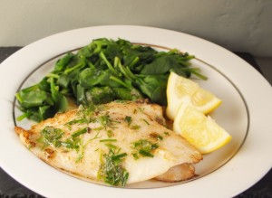 Lemon Sole with Herb Butter