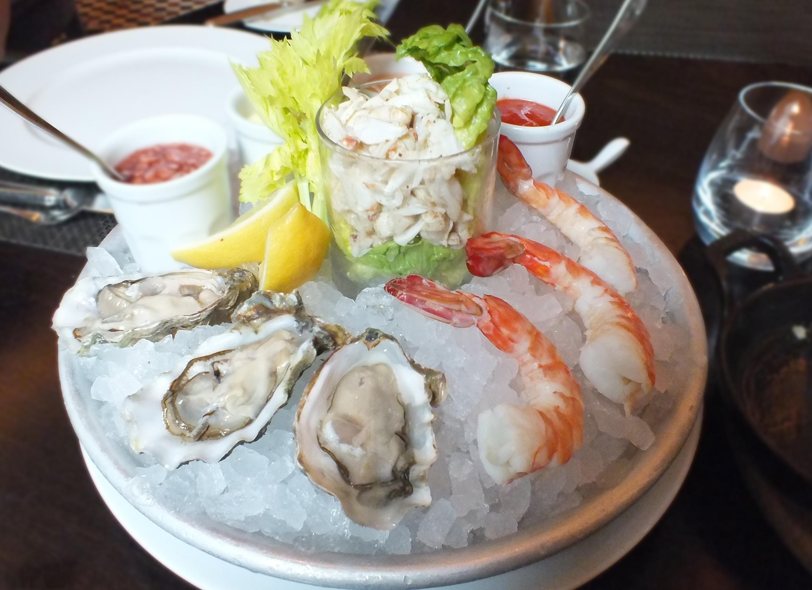 JW Steakhouse mayfair Seafood Platter