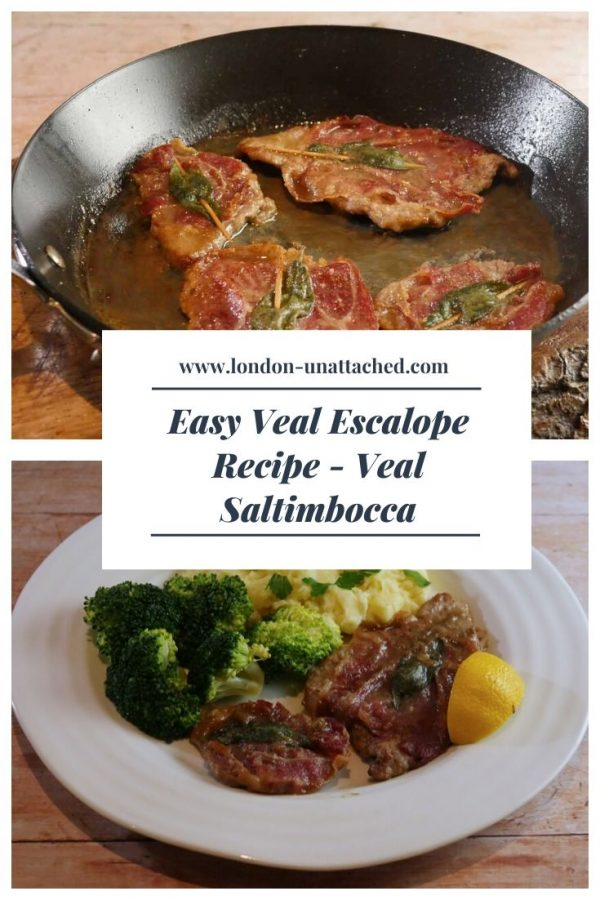 Veal Escalope - Saltimbocca with Veal, Sage and Ham