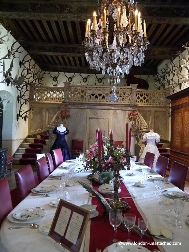banqueting hall, chateau de brissac