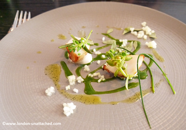 roganic - sea scallop, oyster, seaweed and watercress