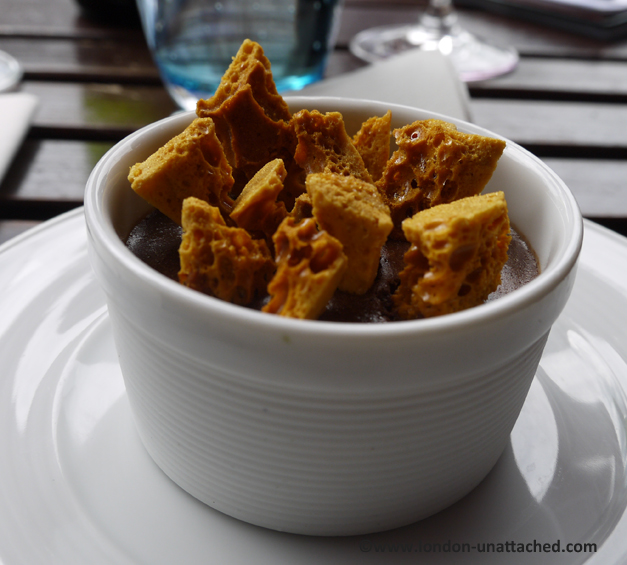 tuttons covent garden - chocolate mousse with honeycomb