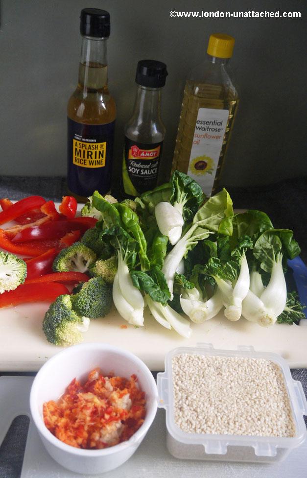 5-2 diet Stir Fry Mise en Place.