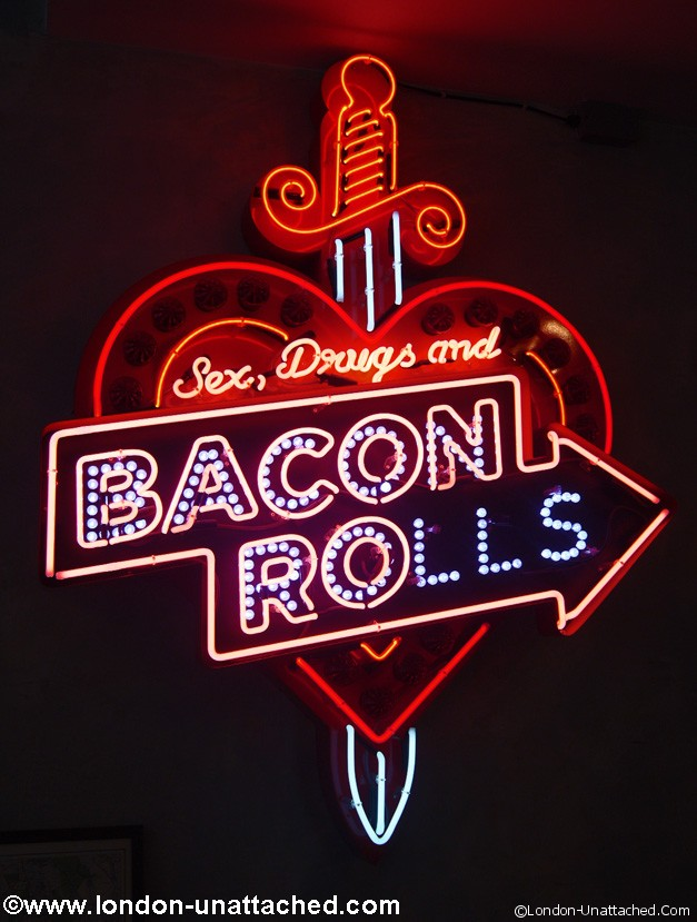 the breakfast club - bacon rolls
