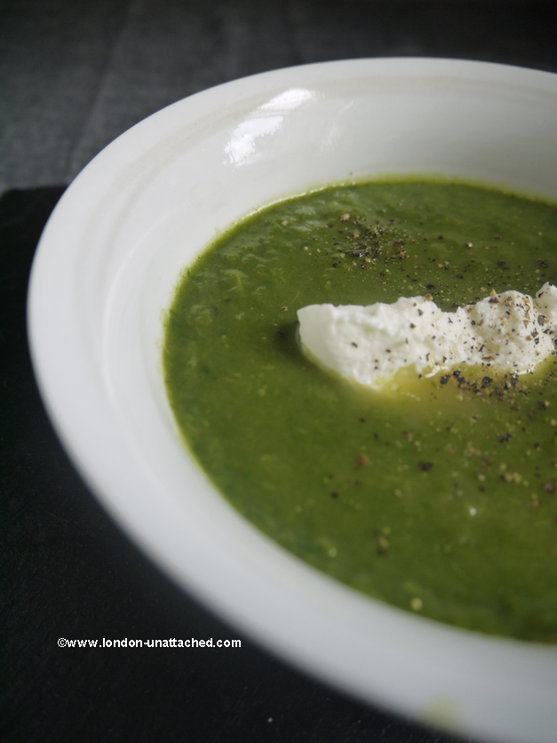 celery and spinach soup 1