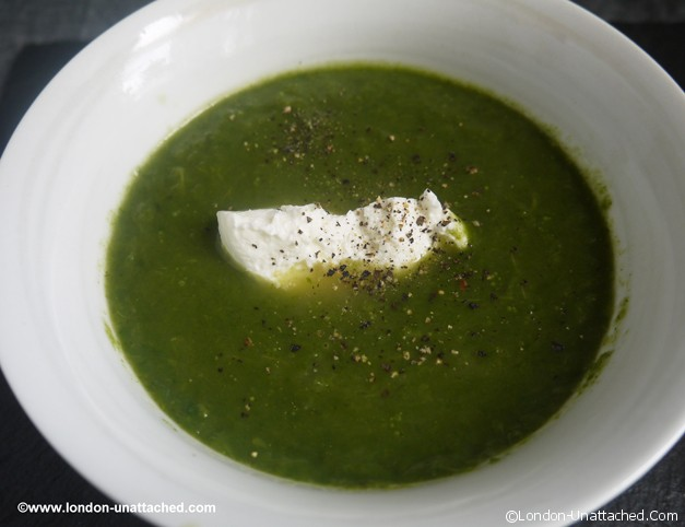 5:2 diet celery and spinach soup