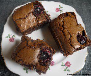 Chocolate Cherry Brandy Brownies
