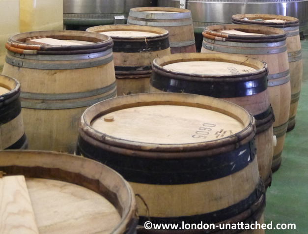 denbies - wine tasting barrels