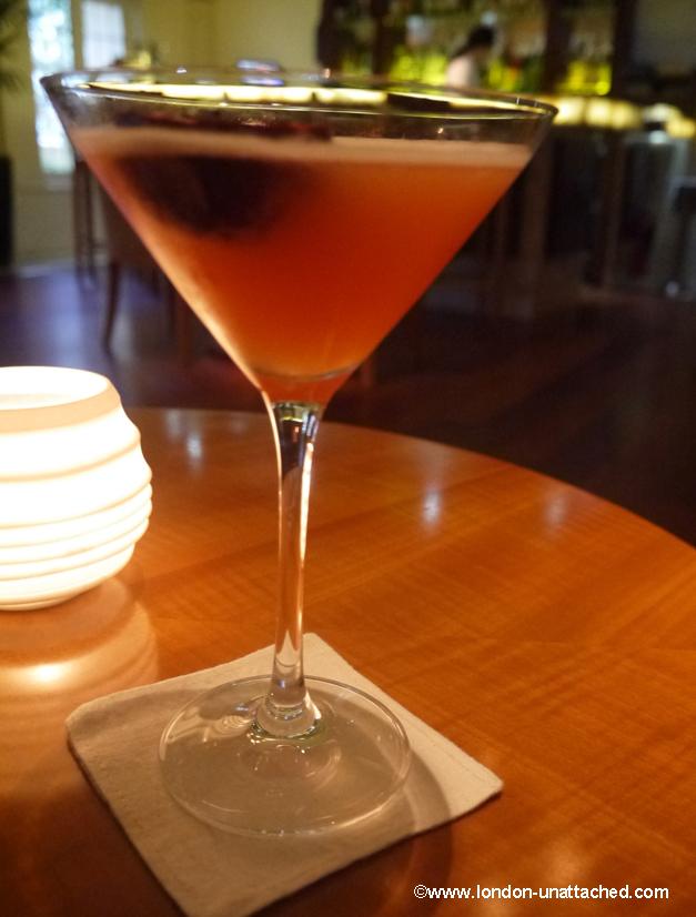 passion fruit and absolut vanilla vodka martini - bombay brasserie