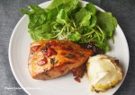 balsamic salmon and goats Cheese