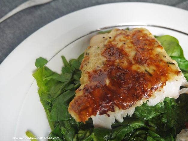 5:2 Diet Recipe - smoked haddock rarebit