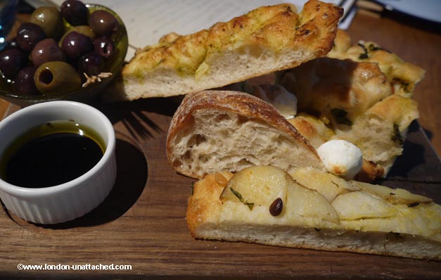 the anthologist - bread and olives