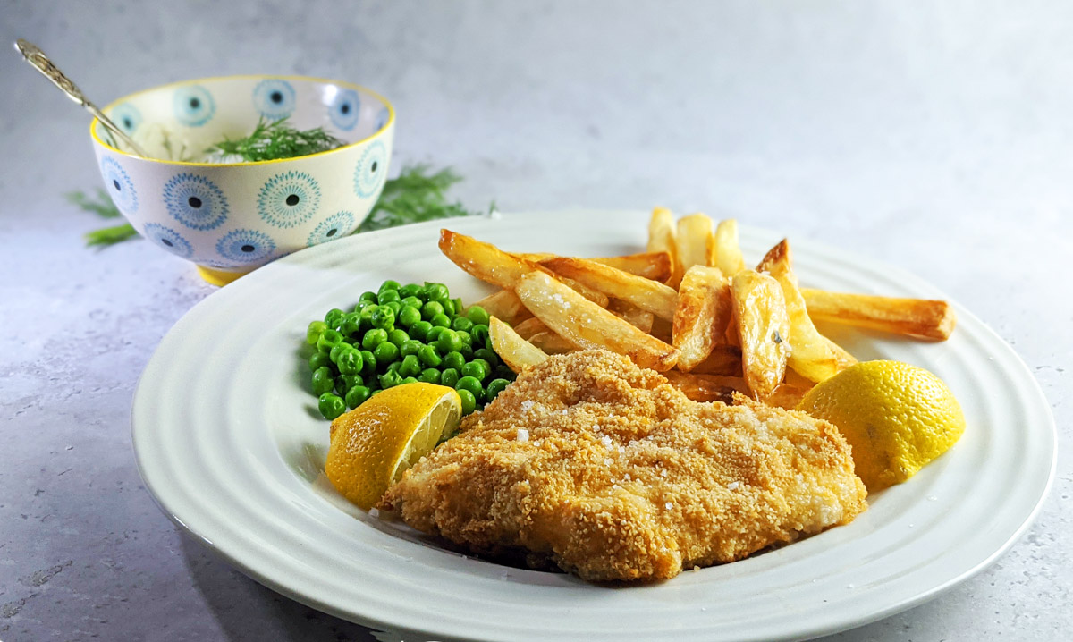 Healthy Breaded Cod and Chips