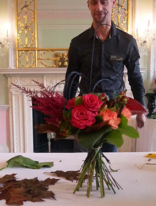 finished tied bouquet interflora flower school
