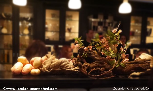 potato decoration - l'atelier de joel robuchon