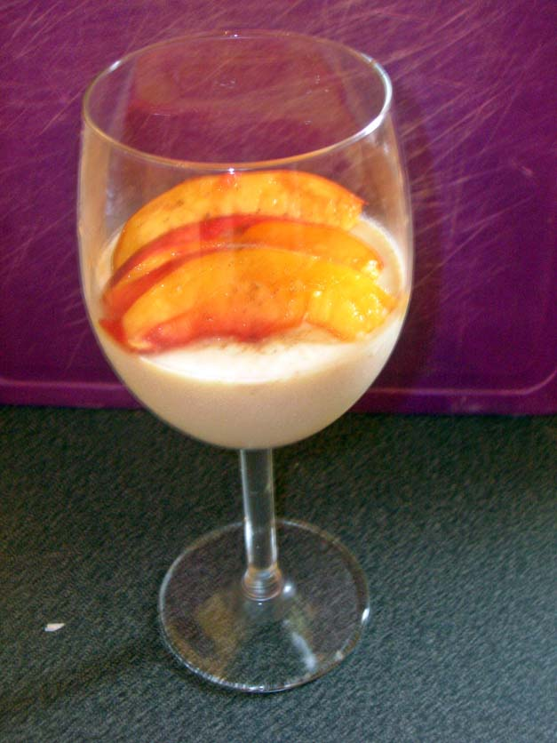 Spicy Peach Pit Panna Cotta