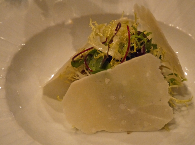 alloro salad of artichoke with parmesan