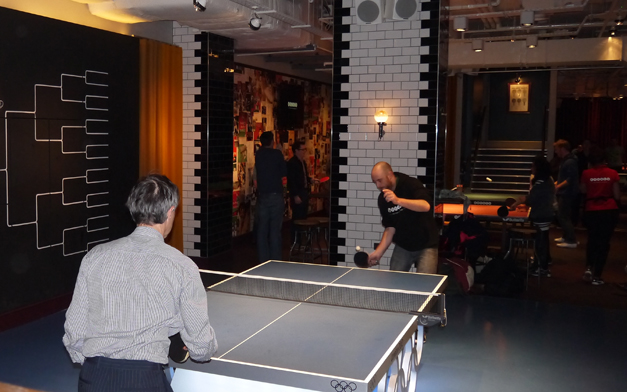 bounce olympic table in action