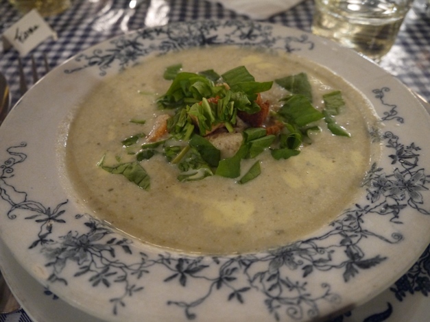 celeriac and sorrel soup - pips dish