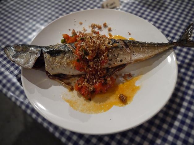 mackerel - pips dish