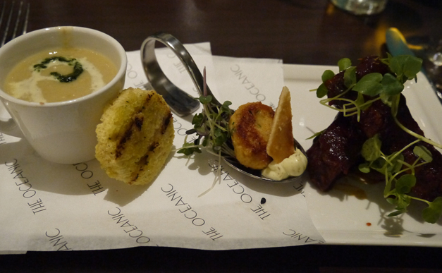 ribs, chowder oceanic bar radisson blu