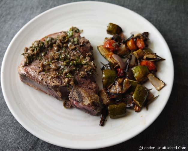 rose veal sirloin steak