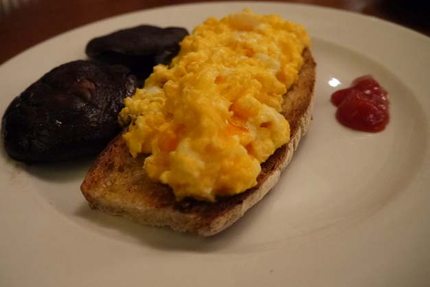 scrambled eggs - Hawksmoor, City of London