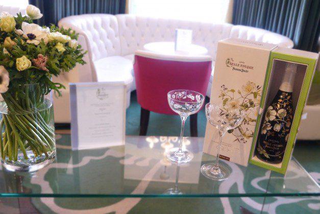 Perrier Jouet at Harvey Nichols table settings