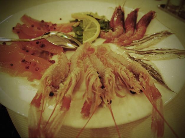 cold seafood la barcarola livorno
