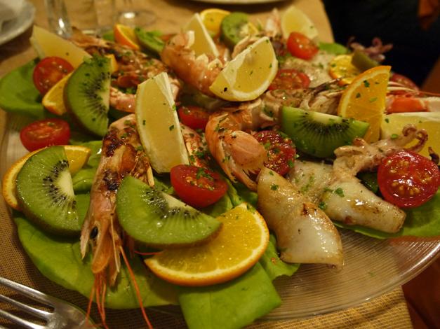 grilled fish osteria del mare