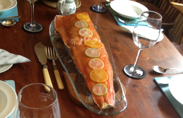 honey roast salmon from DelishFish