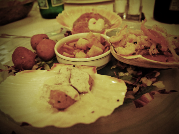 hot seafood starter la barcarola livorno