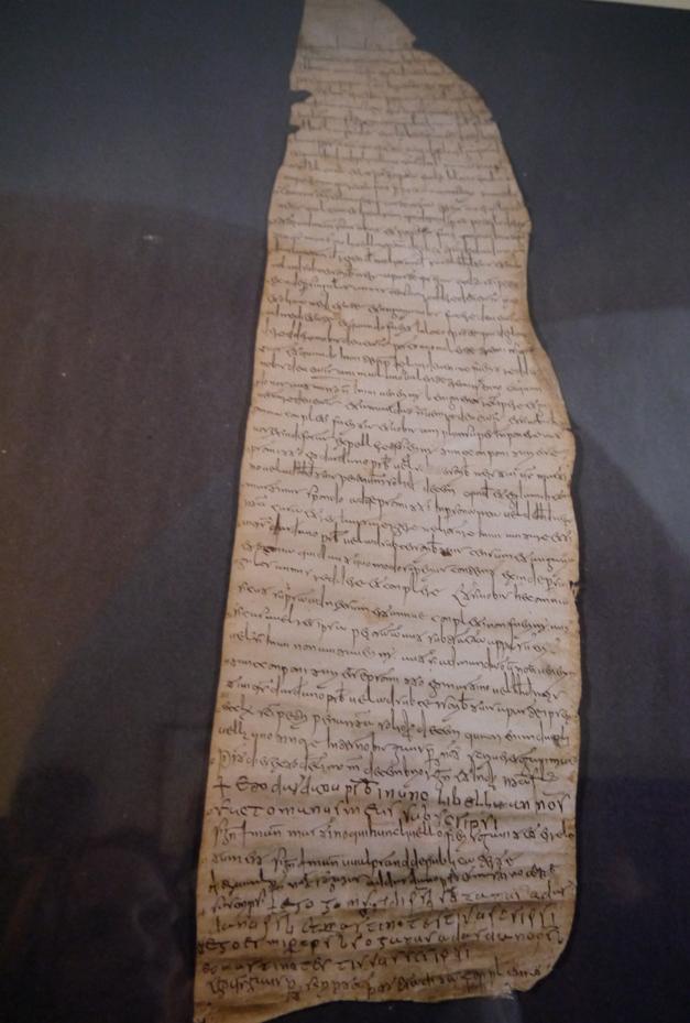 parchment fragment capezzana