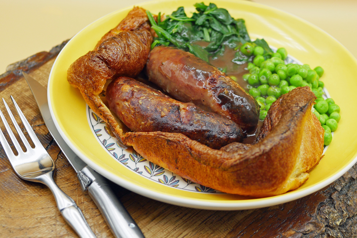 Toad in the Hole Served