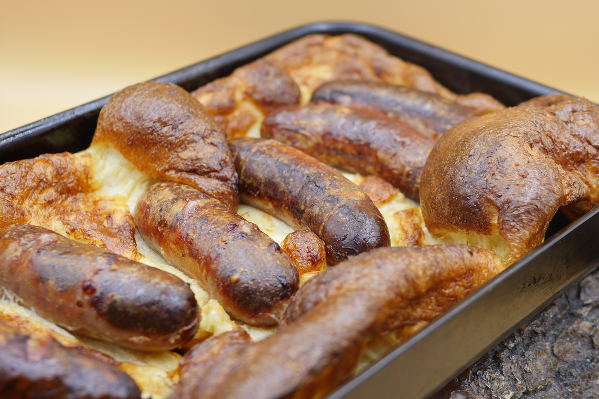 Toad in the Hole in tin